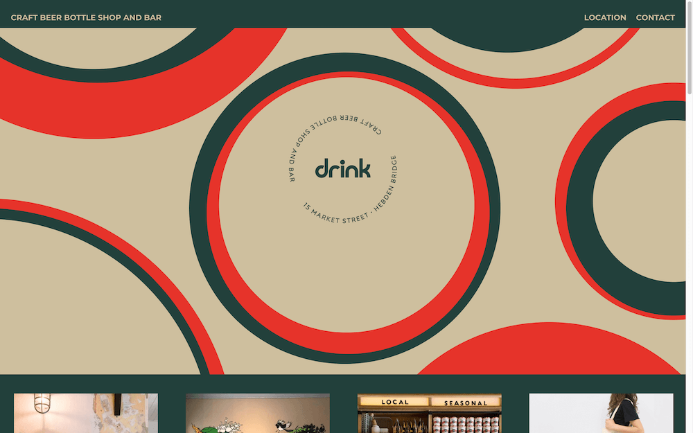 drink landing page